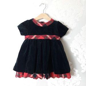 Hanna Andersson Baby Girl Velvet Holiday Dress 70